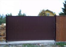 Частный дом Откатные ворота