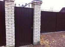 Калитка распашных ворот